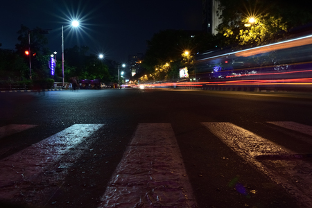 long exposure photography in road