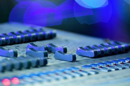 Close-up Of Professional Digital Sound Mixer