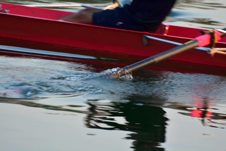 Close up rowing Oar