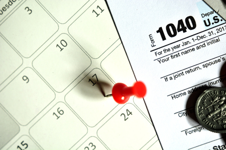 Tax day for 2017 returns is April 17, 2018