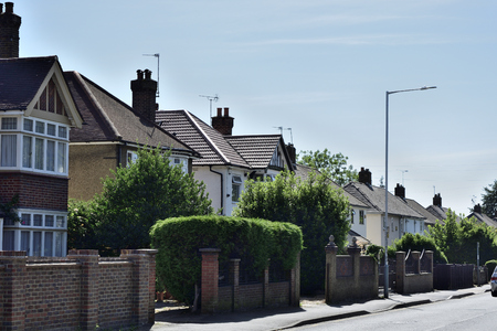 Georgian style terraced houses in London, England. Stockfoto