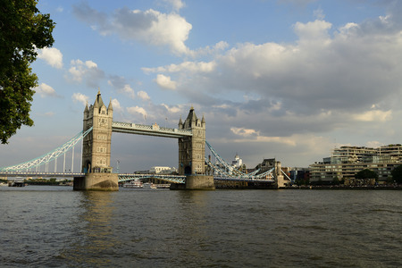 Tower Bridge over Thames river at London in England Reklamní fotografie