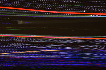 Abstract multi color line background against black background. Stockfoto