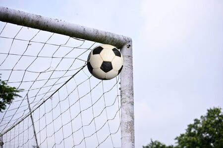 Scoring a goal, soccer ball tend to enter soccer goal