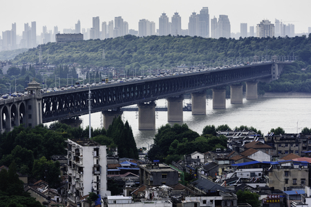 Old building and the Yangtze River Bridge