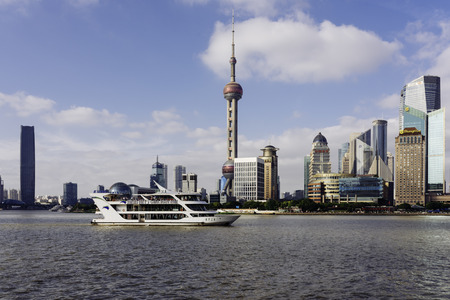 Shanghai Lujiazui scenery Stock Photo - 107181130