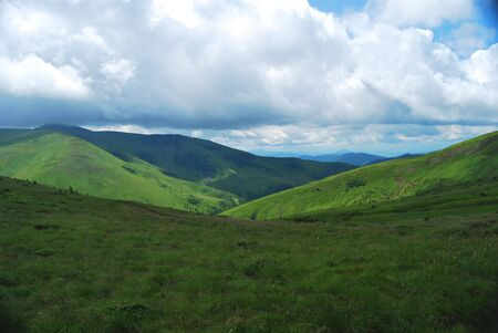 Summer day in Carpathians mountains photo