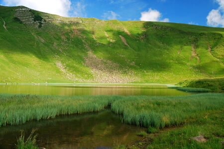 Lednekovoe lake in Carpathians photo