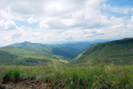 Summer day in Carpathians mountains. Ukraine. Carpathians photo
