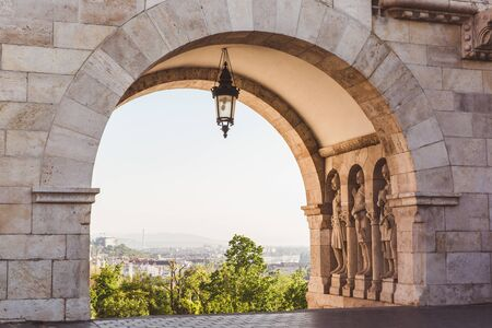 View on the Old Fisherman Bastion and Arch Gallery in Budapest