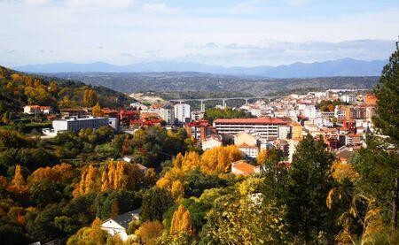 view Bejar city, Salamanca, Spain in Autumn Banque d'images