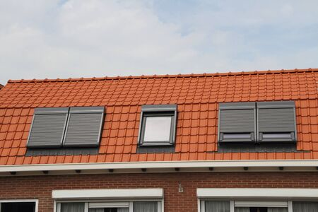 A house with new roof windows