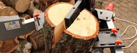Wood splitters with firewood