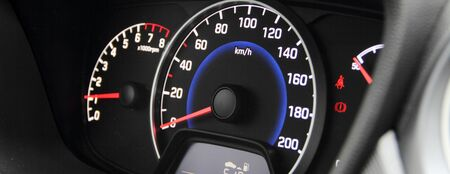 A modern dashboard in a car