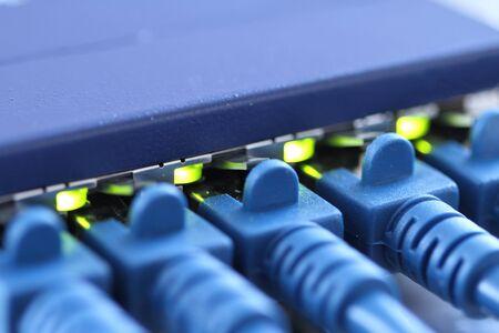 RJ45 brancher un routeur Banque d'images