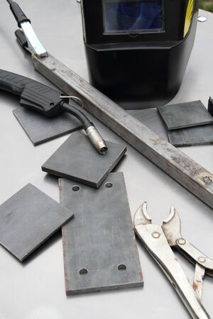Welder utensils on a table