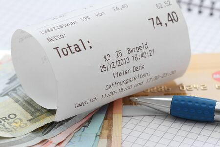 A bill with money in a restaurant