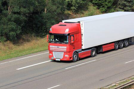 Trucks on the highway Reklamní fotografie
