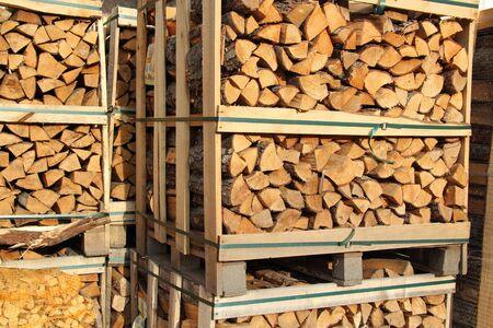 Split dry firewood