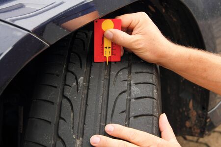 Measuring summer tire profile