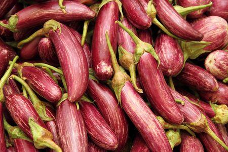 Fresh eggplant on the market