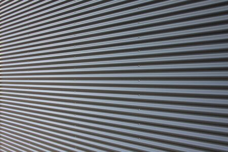 Background corrugated iron facade Banque d'images