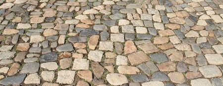Paving stones on the street
