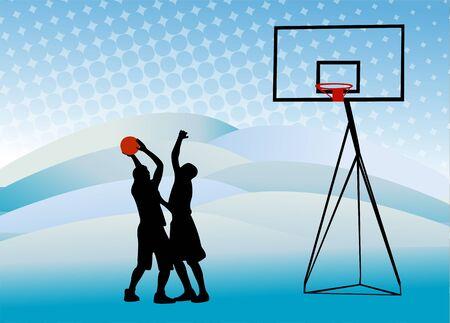 basketbal en bord vector
