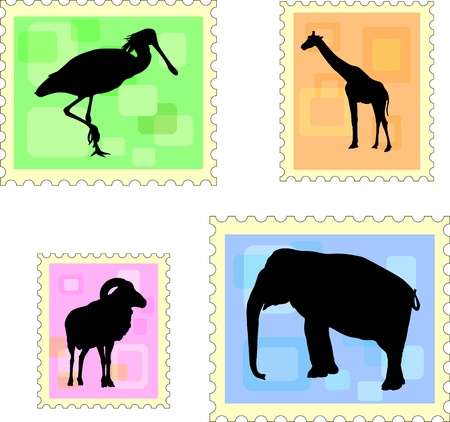 animal stamps Stock Vector - 17458638