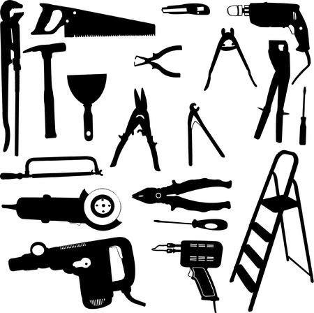 electric drill: tool set
