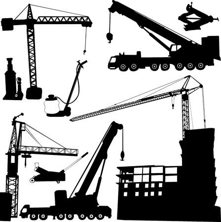bouwkraan Stock Illustratie
