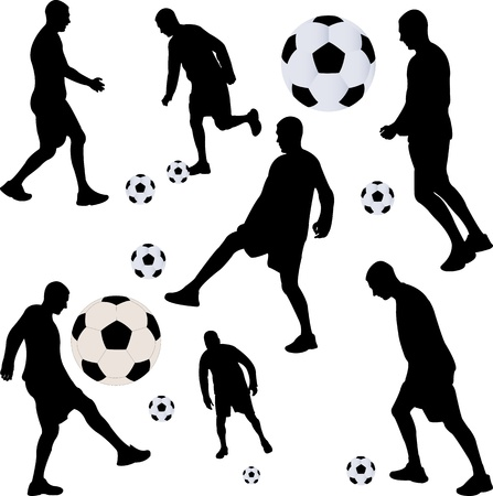 soccer player collection  Illustration