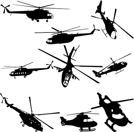 helicopters collection  Stock Vector - 17575781