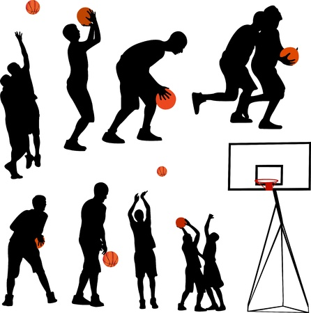 basketball and backboard Stock Vector - 17575797
