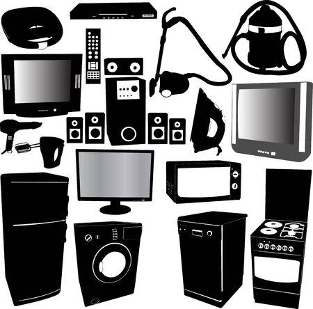 home electronics Stock Illustratie