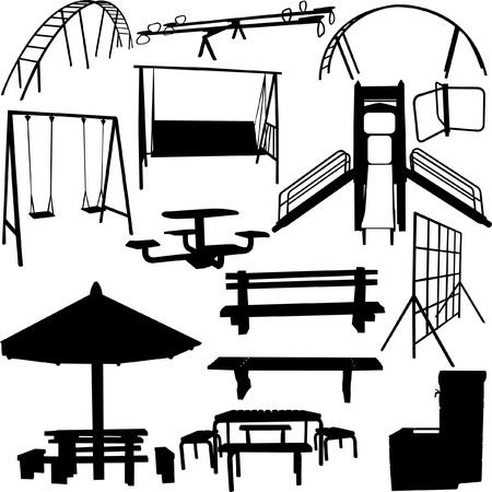 outdoor park object Stock Illustratie
