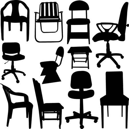 design van de stoel Stock Illustratie