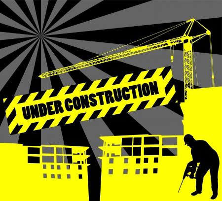 under construction background Illustration