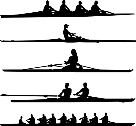 rowing set   Stock Illustratie