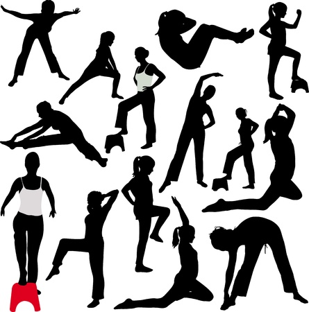 aerobics girl Reklamní fotografie - 17575801