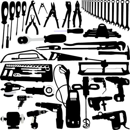 Tools Silhouetten Sammlung - Vektor