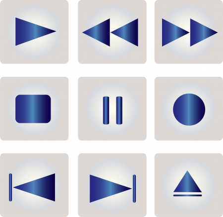media player: multimedia buttons - vector