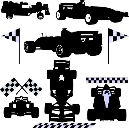 formula cars  Vector