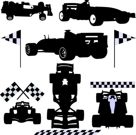 formule auto's Stock Illustratie