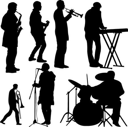 Musiker-Sammlung - Vektor Illustration