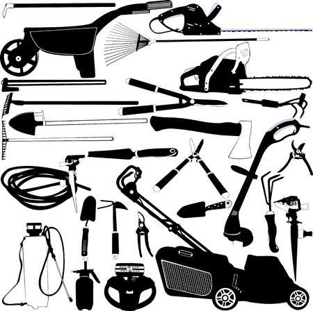 garden tools set 1 - vector Vector