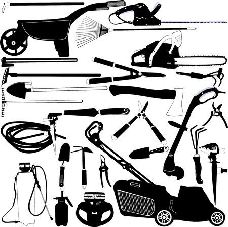 garden tools set 1 - vector Illustration