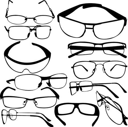 zonne bril collectie - vector