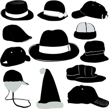 hat set vector