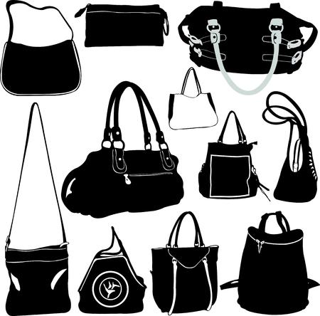 fashion bag vector Illustration